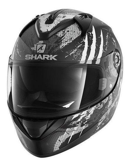 Capacete para moto integral Shark Ridill Drift-R black, anthracite, silver tamanho M