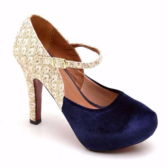 Sandalia Sapato Feminino Salto Alto 11 Cm Ziper Confortavel