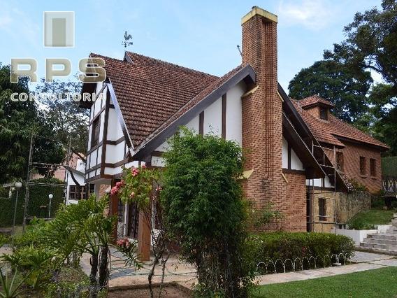 Casa Em Estilo Inglês Em Atibaia, Rica Em Detalhes, Amplo Jardim, Bairro Estritamente Residencial - Ca00090 - 4518105