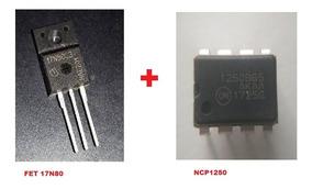 C.i. Ncp1250 / 1250b65 / Ncp-1250 Dip + Fet 17n80c3 To220 Lg