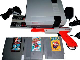 Consola Nintendo Nes, Marios1,2,3 Todo Original