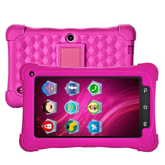 Tablet Mondial Tb-19 Kids Rosa, Tela 7 , Wifi, 2mp, 8gb