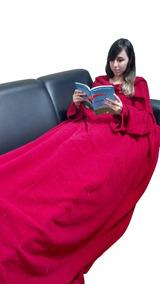 Cobertor Com Mangas E Bolso Para Os Pés - Kit Com 04 Peças