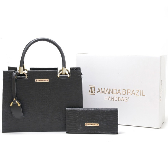 Bolsa Lorena Croco Amanda Brazil