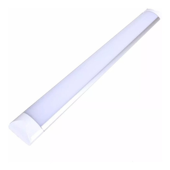 Luminaria Tubular Led 40w Lampada Calha Sobrepor 1.20cm Fria