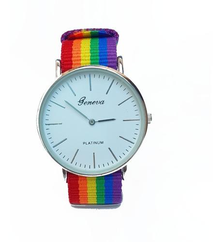 Reloj Pulsera Extensible Arcoíris Lgbt Orgullo Gay Colores