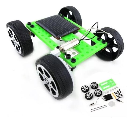 Mini Carrinho Placa Energia Solar / Kit Educacional Montagem