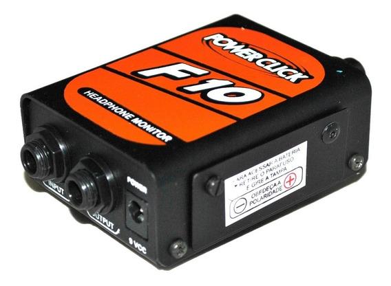 Amplificador Fone De Ouvido Power Click F10 + Fonte Ps01 Ori