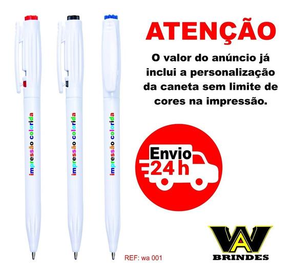 100 Canetas Personalizadas Wa 001 Brindes - Imp.colorida