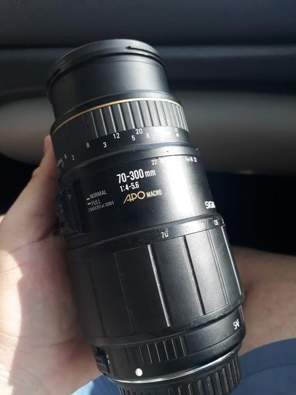 Lente Canon 70-300mm App Macro Sigma + Filtro Leia O Anuncio