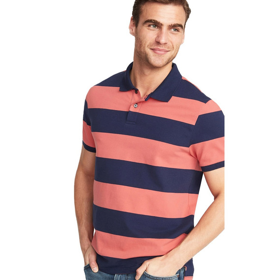 Playera Polo Hombre Manga Corta Flex Stretch Rayada Old Navy
