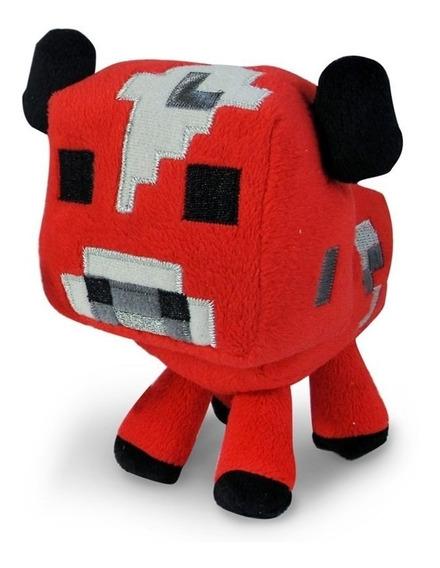 Pelúcia Minecraft Baby Mooshroom Vaca Cogumelo
