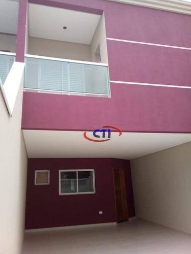 Sobrado Com 3 Dormitórios À Venda, 150 M² Por R$ 750.000,00 - Jardim Vera Cruz - São Bernardo Do Campo/sp - So0578