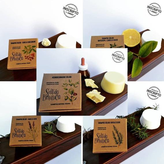 Shampoo Sólido Sentida Botánica. Apto Vegano. Apto Low Poo