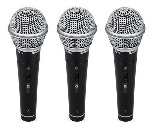 Micrófono Dinamico 3 Set R21 Samson + Case - Envío Gratis