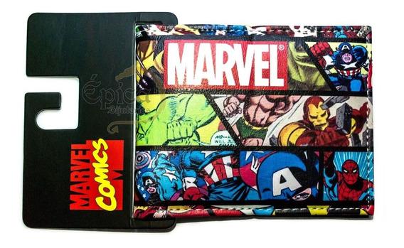 Carteira Geek Super-heróis Quadrinhos Marvel
