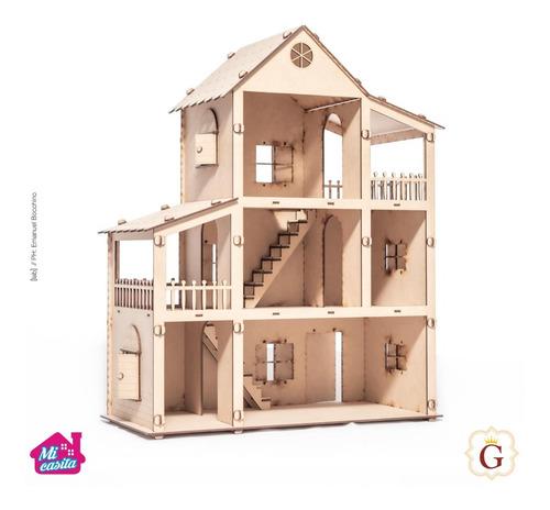 Casa Casita Para Muñecas Lol En Fibro Fácil Sin Muebles