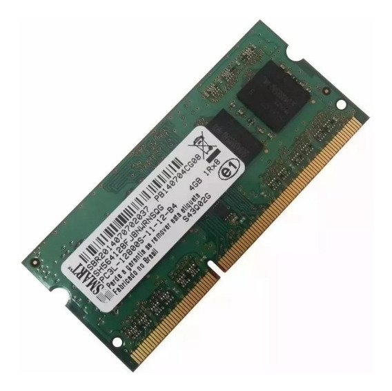 Memória Smart 4gb Notebook Ddr3l Pc3l 12800s 1600mhz Novo