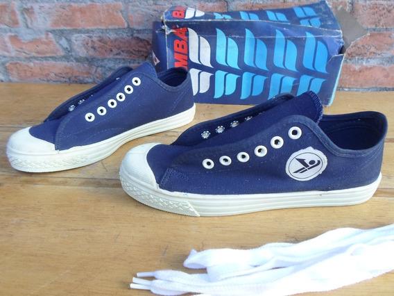 Tenis Bamba Fashion Azul Novo 30 34 35 36 37 38