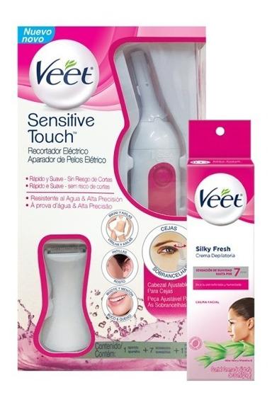 Depiladora Veet Senstive Touch + Crema Depilatoria Facial