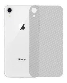Película Carbono + Capa Emborrachada Carbon Preta iPhone Xr