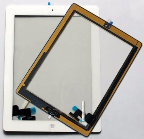 Vidro Tela iPad 2 Ipad2 Touch Screen Branco Com Botão Home