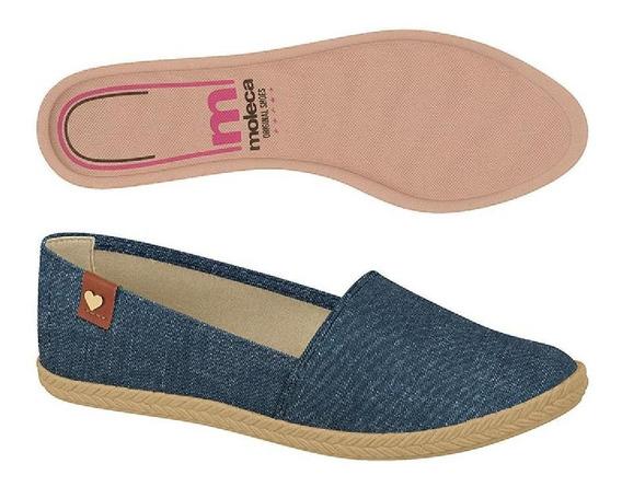 Sapatilha Moleca Bico Redondo Jeans 5287210