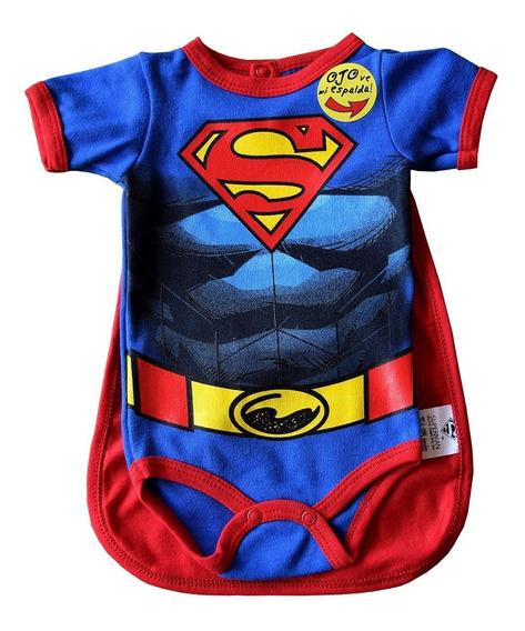 Pañalero Superman Músculos Con Capa 26104