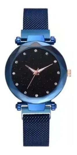 Reloj Vintage Dama Extensible Magnetico Colores Moda Iman