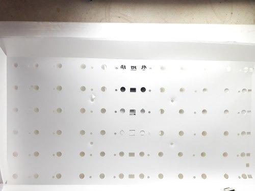 Plastico Branco Refletor Das Barra Led Samsung Un46eh5000g