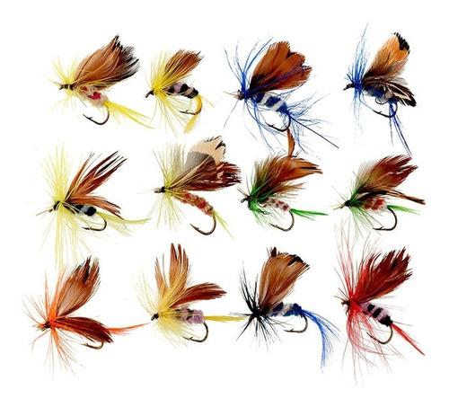 Imagen 1 de 3 de Set Señuelo Mosca Insectos Cebo De Pesca Artificial Pescar