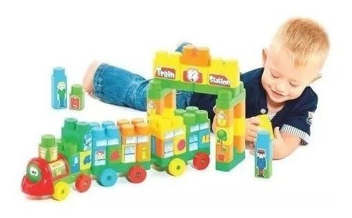 Brinquedo D Montar Infantil Educativo Didático - Tipo Lego