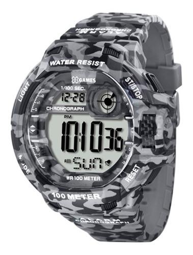 Relógio X Games Masculino Camuflado Digital Pulso Esportivo