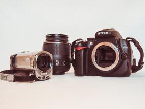 Câmera Nikon D5000 + Filmadora Sony Handycam