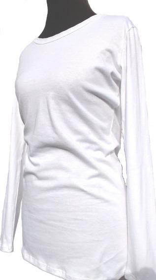 Pack X 2 Camisetas Blancas En Algodón Talles S M L