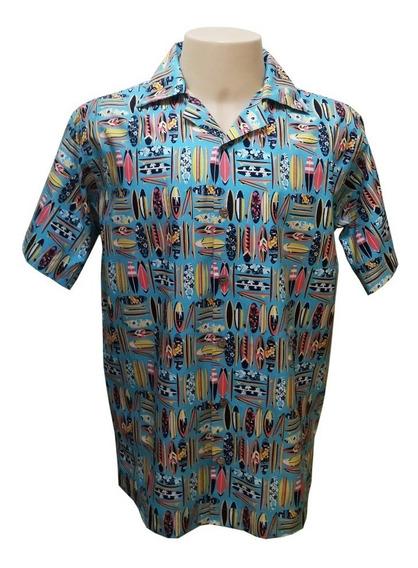 Camisa Masculina Hawaiana M0284 (verifique Medidas!!)
