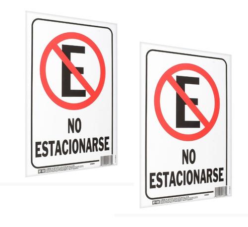 Imagen 1 de 4 de Letrero Cartel No Estacionarse Cochera (2 Piezas)