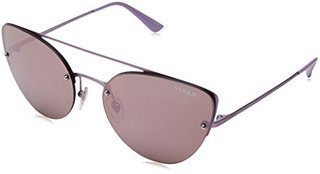 Vogue Womens Metal Woman Nonpolarized Iridium Cateye Sunglas