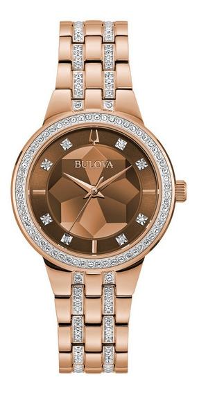 Relógio De Pulso Bulova Rosegold Feminino - 98l266