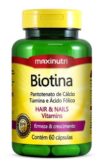 Biotina Firmeza E Crescimento Maxinutri 60 Cápsulas