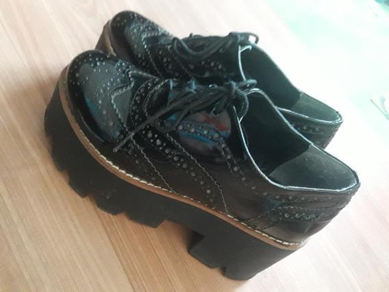 Zapatos Con Plataforma Marca Nazaria Nro 35