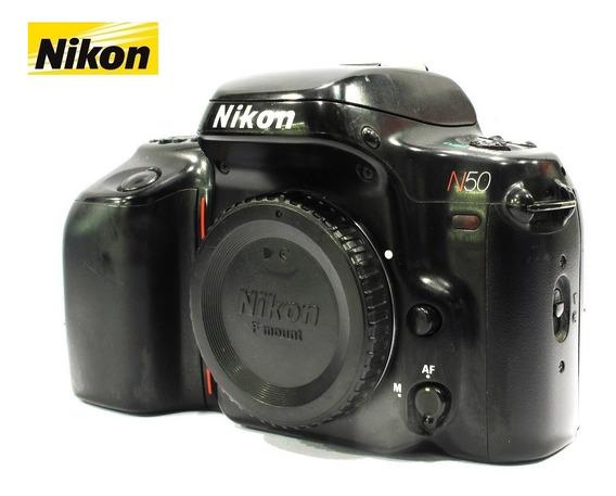 Câmera Nikon Reflex 35mm Modelo N50 Analógica - Só O Corpo