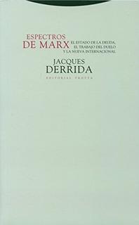 Espectros De Marx - Jacques Derrida - Trotta En Stock