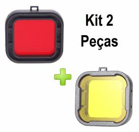 Kit Filtros Para Gopro 3+ 4 Vermelho E Amarelo