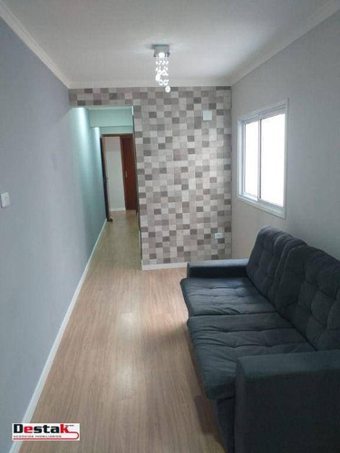 Imagem 1 de 30 de Ótimo Apartamento Bairro Utinga Santo André, 55 Metros. - Ap3130