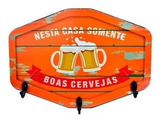 Porta Chaves Chaveiro Bar Cerveja Bebidas + Brinde Plaquinha