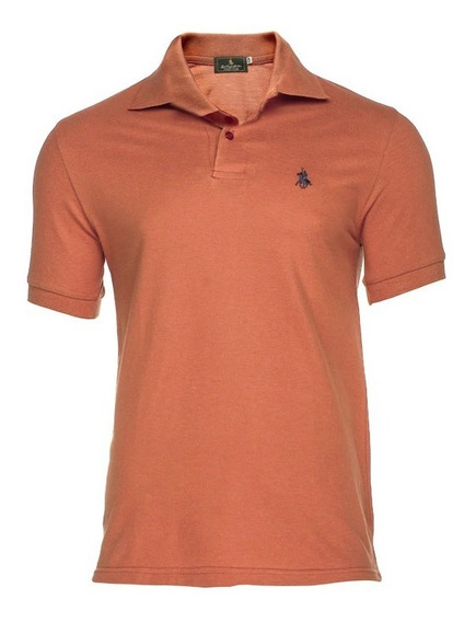 Playera Polo Club - Mandarina