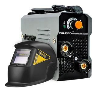 Kit Máquina De Solda Inversora Smarter-evo-130c Mono 130a +