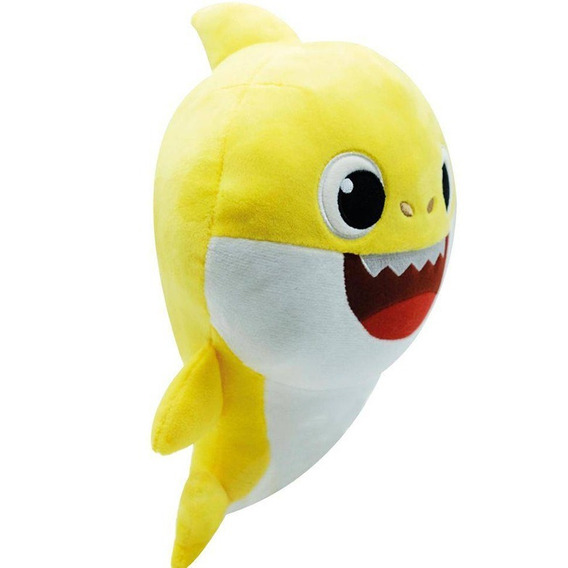 Pelúcia Musical Baby Shark Amarelo Original Toyng