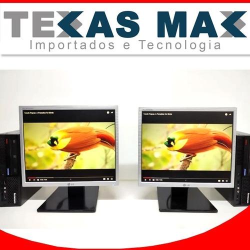 Imagem 1 de 7 de 2 Kits Lenovo Core 2 Duo + Monitor 17+mouse+teclado